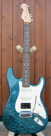 Ash/Quilt Maple, Reverse Head Stratocaster